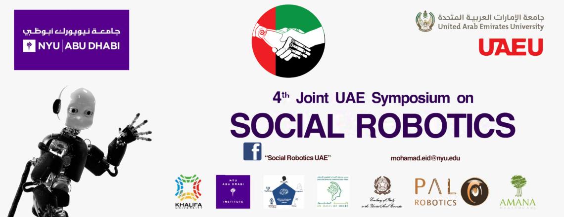 4th Joint UAE Symposium on Social Robotics (JSSR2019), 3-6 February 2019