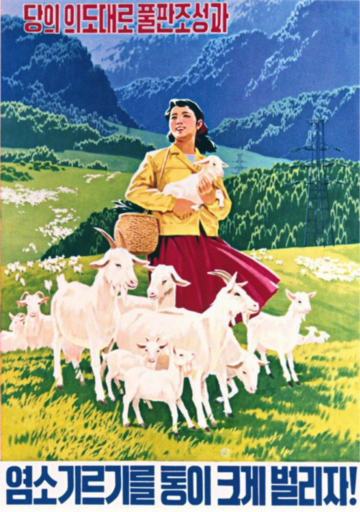 North Korean Propaganda Poster