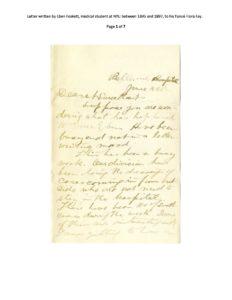 Eben Foskett letter, 1890s