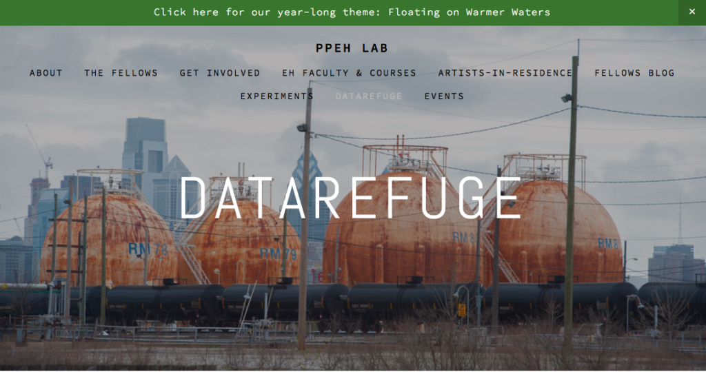 Datarefuge screenshot