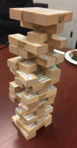 Photography of history jenga