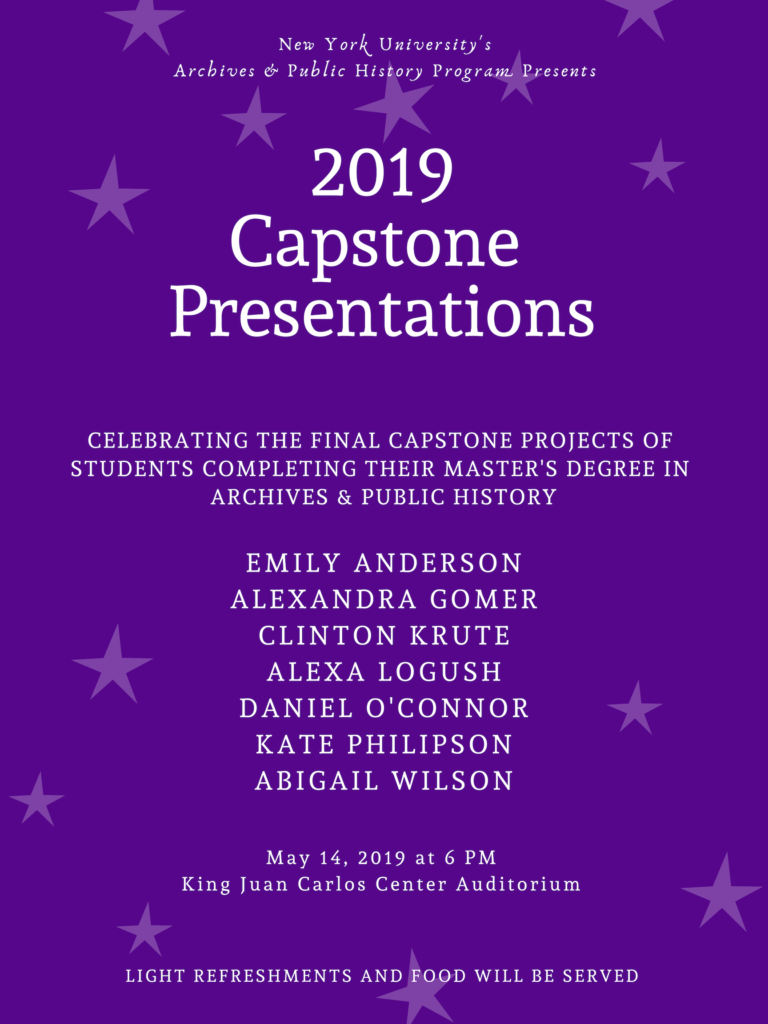 poster for 2019 capstone presentations