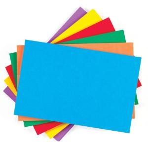 colored note cards index cards