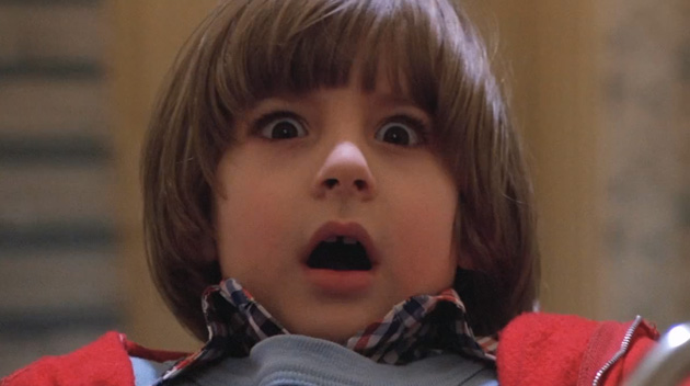 photograph of the boy from The Shining looking terrified