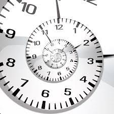 spiral of a clock