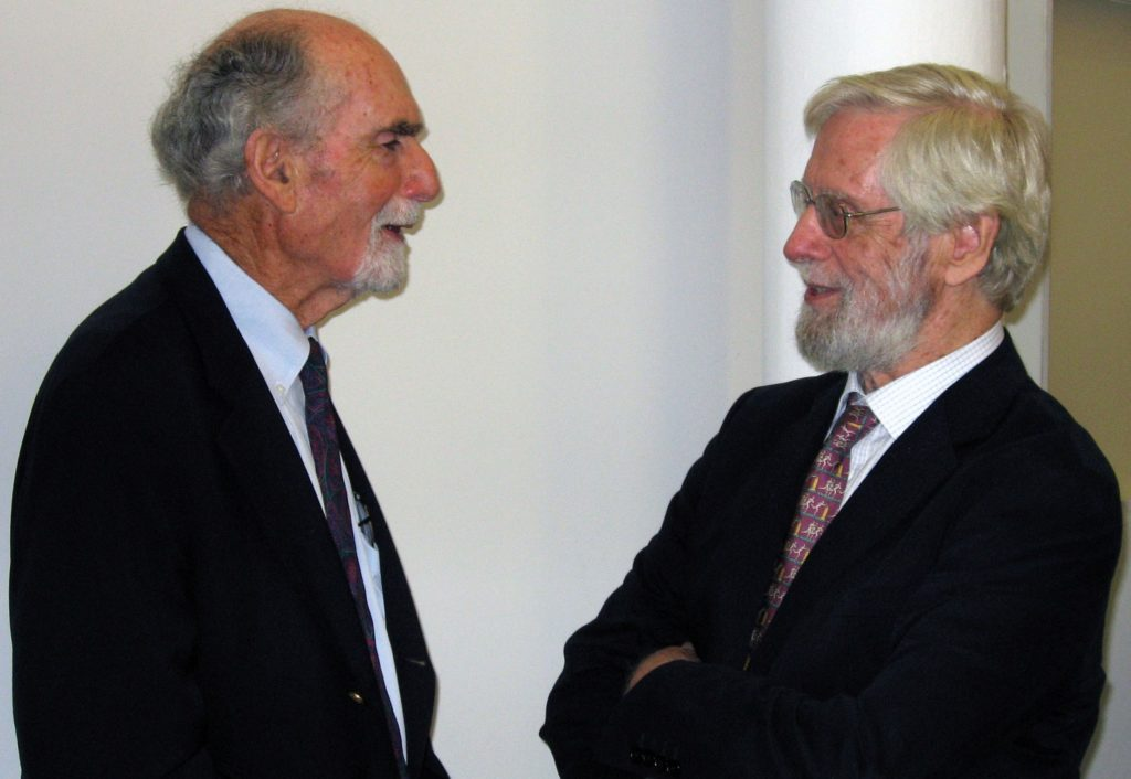 Doctor Arthur Zitrin and the Center's founding Director, Doctor Bill Ruddick.