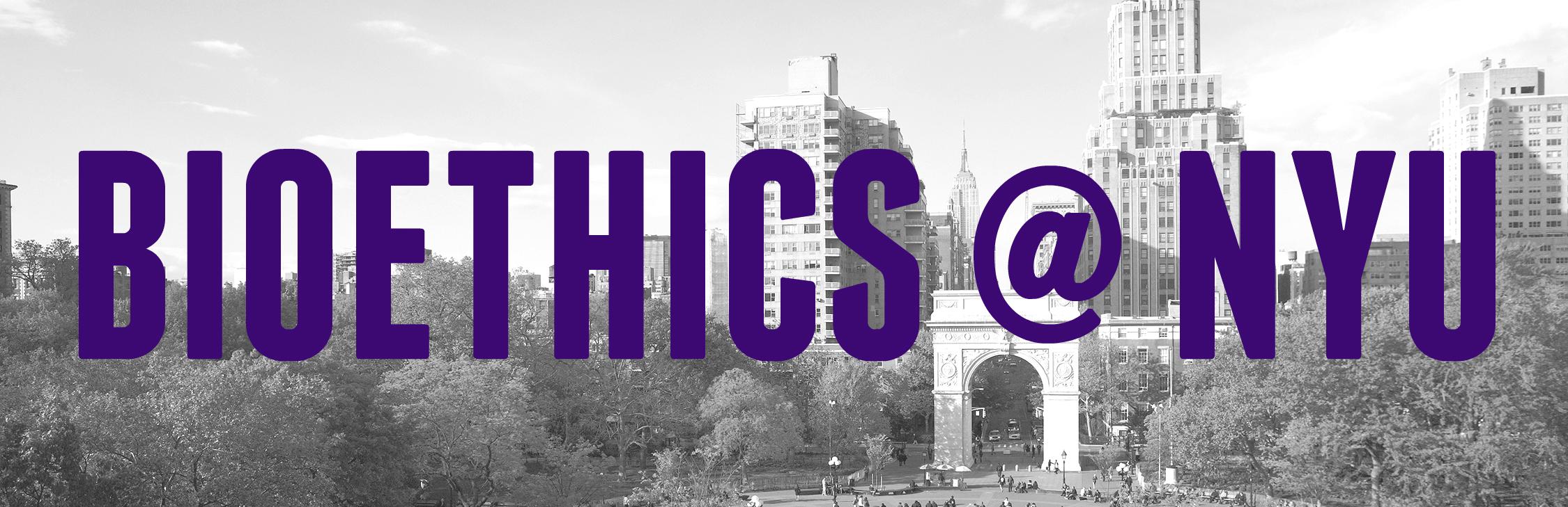 Bioethics at NYU logo