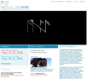 First Nations First Features archival website image