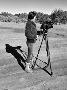 Teresa Montoya filming her documentary, Doing the Sheep Good.