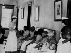 Archival photo nurse with patients