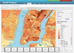 Using Social Explorer, a tool available through the DSS,NYU community members can map Census datafor social research.