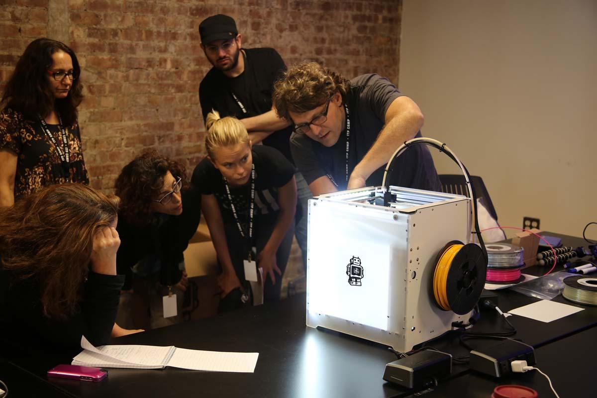 3D printing at ITP Camp