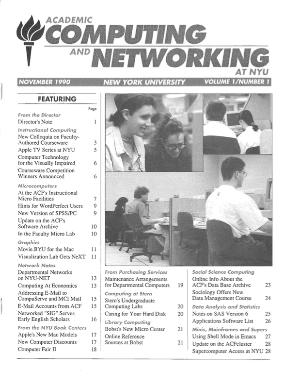 Connect cover, November 1990