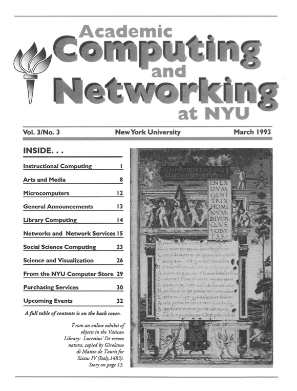 Connect cover, March 1993