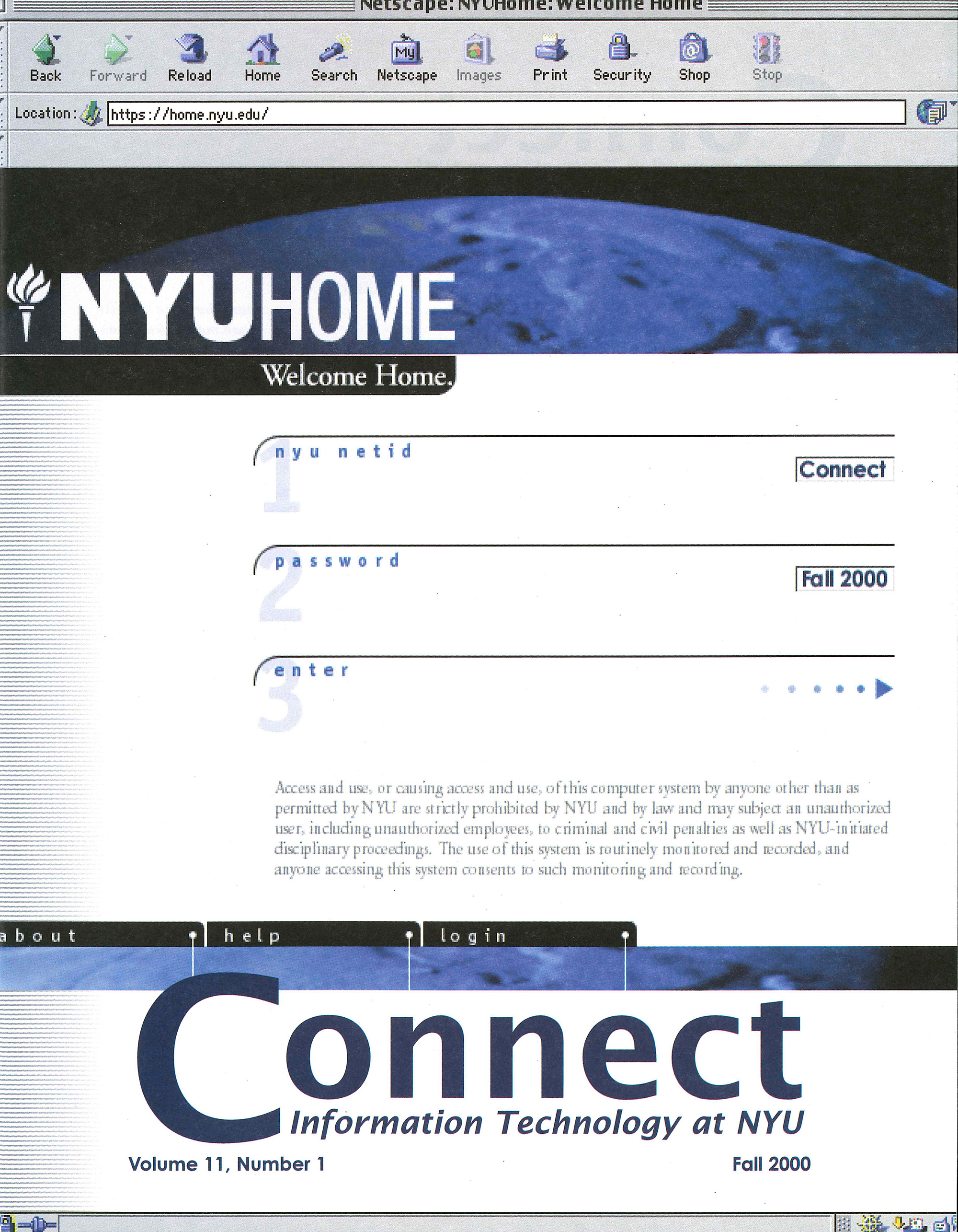 Connect cover, fall 2000