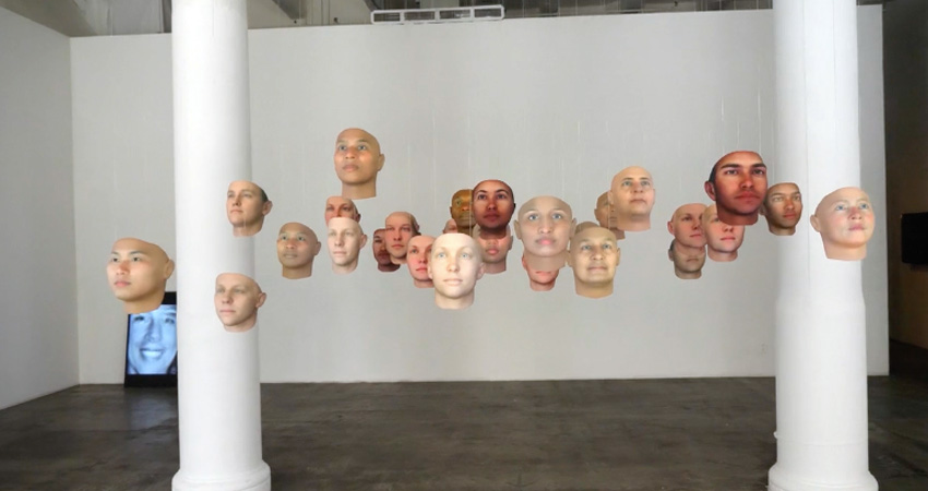 Gallery installation of A Becoming Resemblance