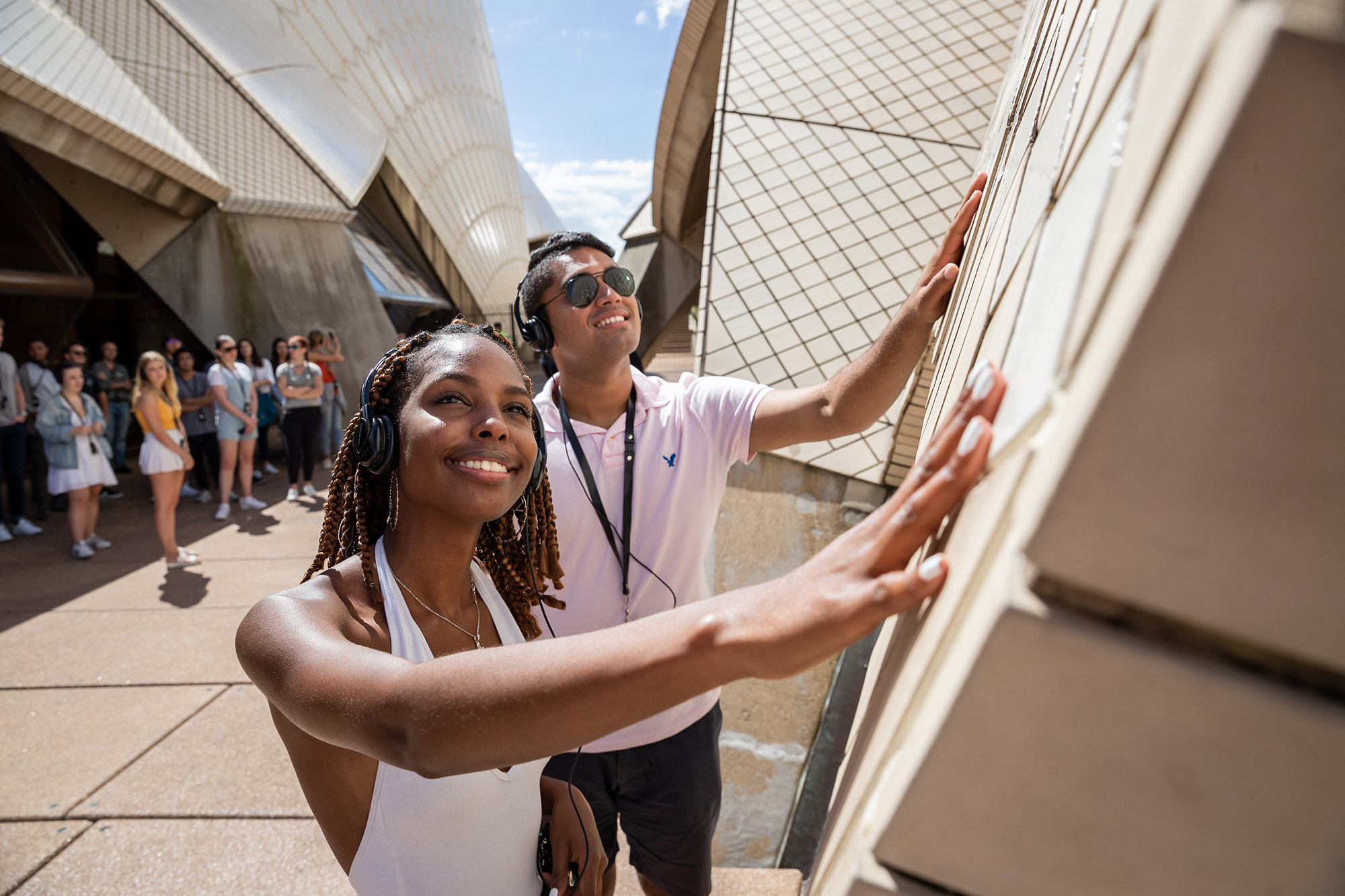 Students visiting the Sydney Opera House