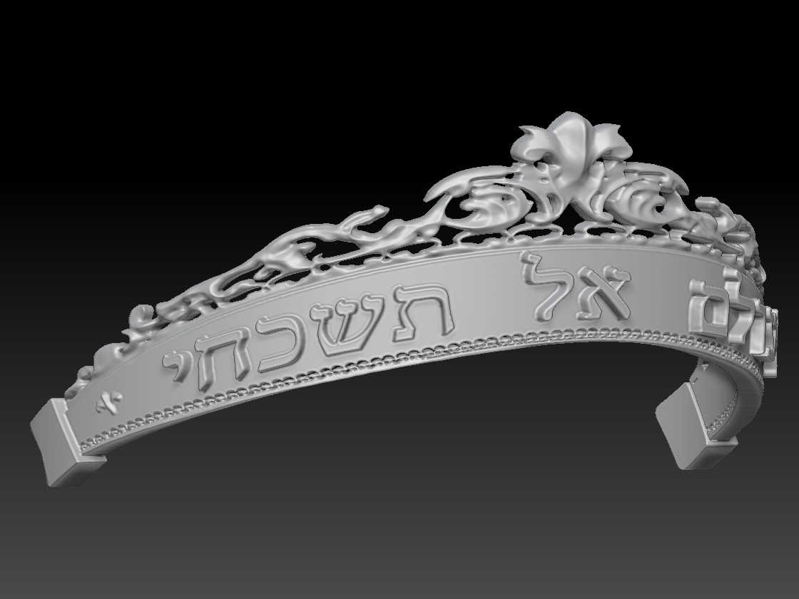3D model of the tiara created by Taylor Absher based on sketches and a cloth mock-up