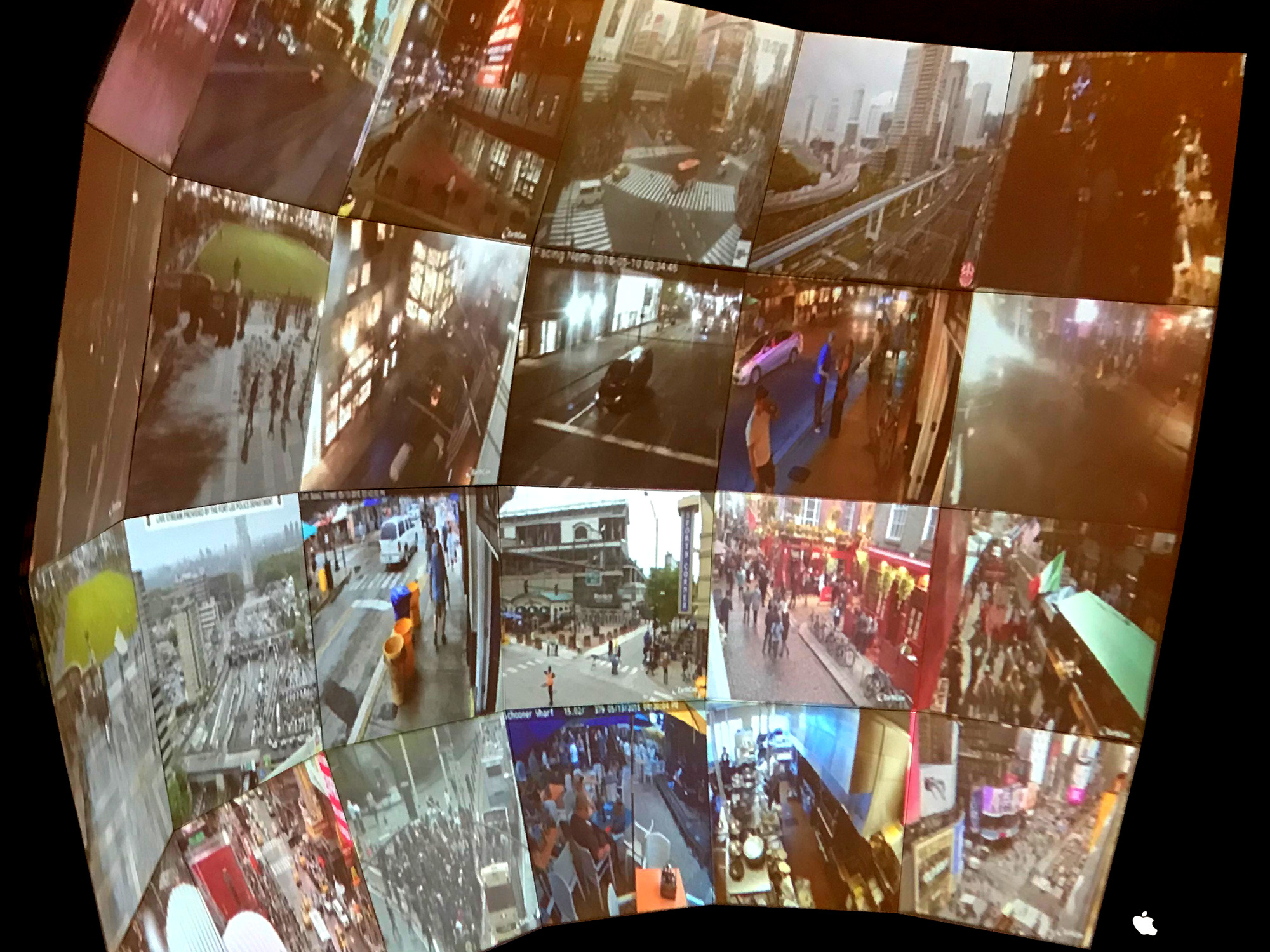 Multiple views from cameras placed around the ITP floor