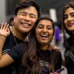 HackNYU co-chairs Eric Kwok and Chandrika Khanduri