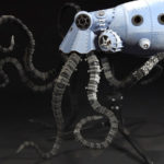 3D rendered mechanical octopus
