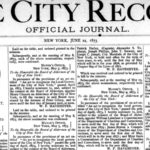 Front page fo the City Record newspaper, June 1873