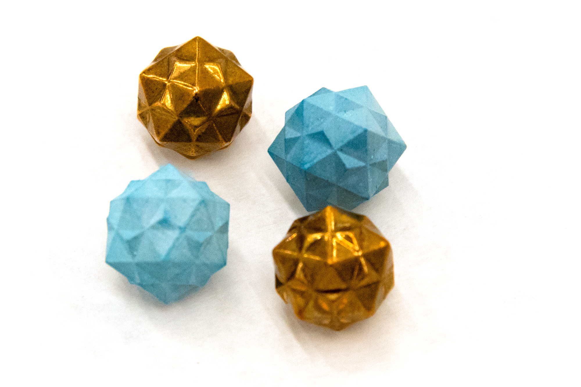 geometrical shapes in wax and metal
