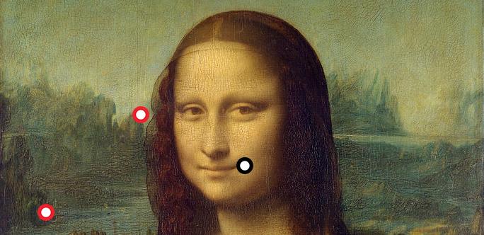 Mona Lisa with annotation hotspots