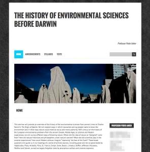 Screenshot of Course Site.