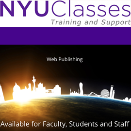 New walk-in support for NYU Classes and Web Publishing