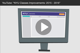 NEW in NYU Classes in Fall 2015/Spring 2016