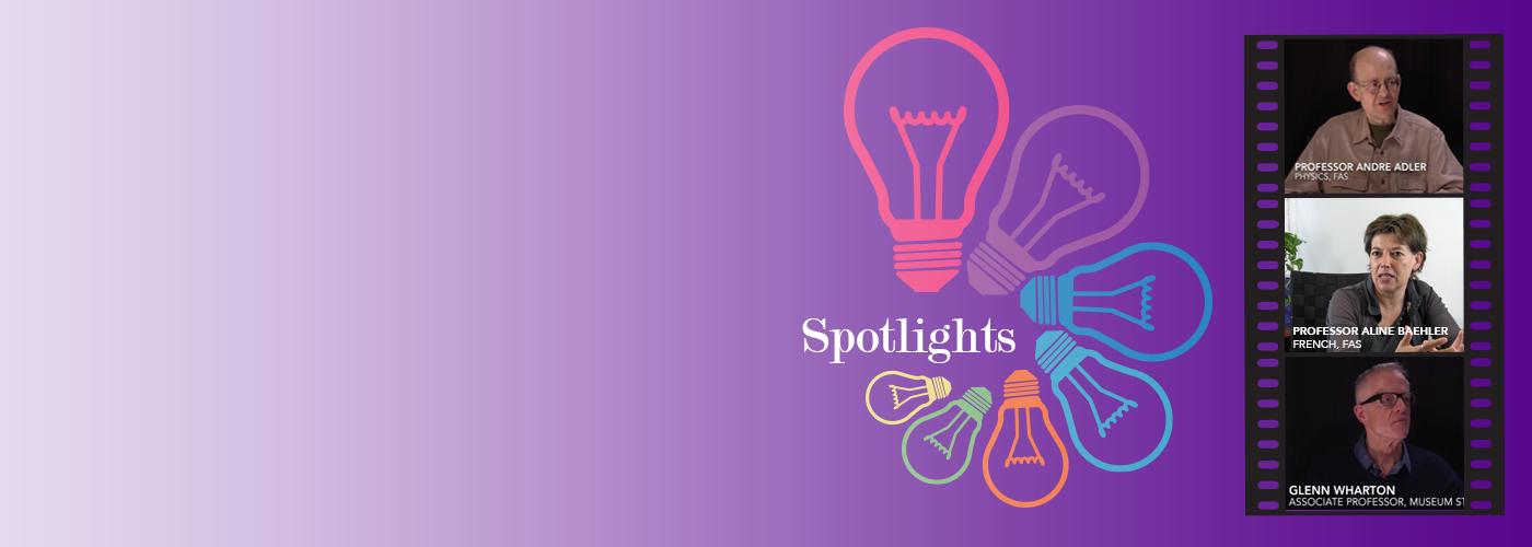 Faculty spotlights