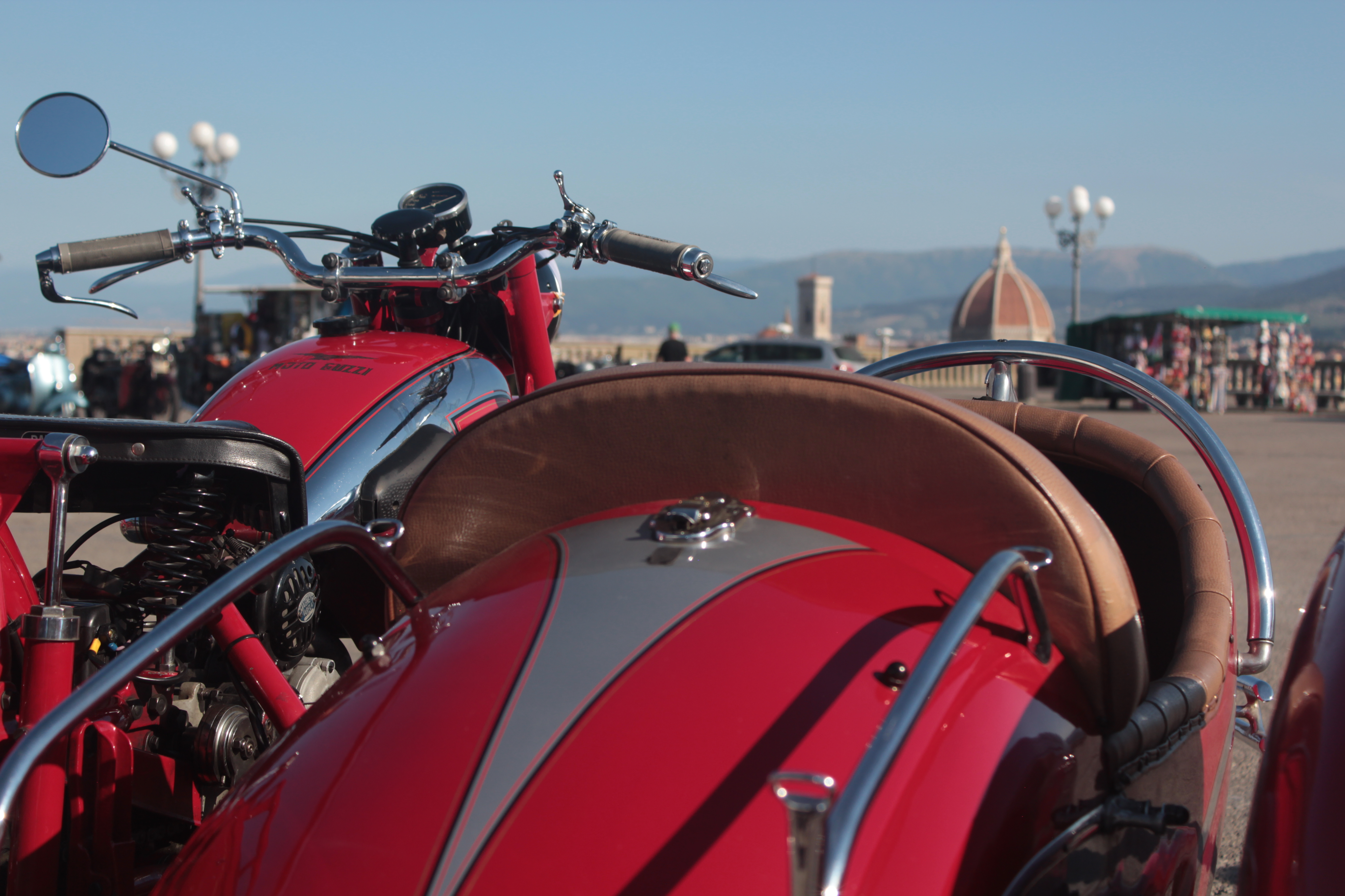 vintage red bike