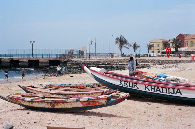 fishing boats on shore