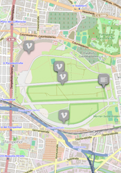 A map of Tempelhof park, formerly an airport.