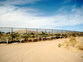 Border fence of Mexico