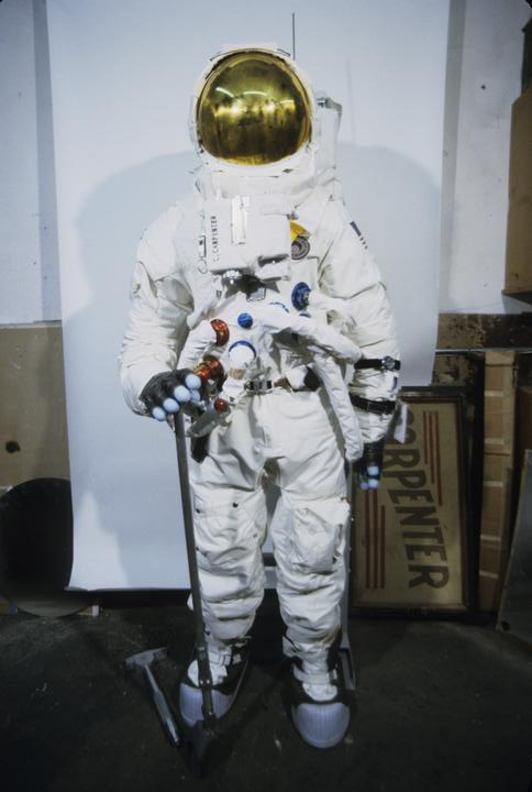 A Child dressed as an astronaut