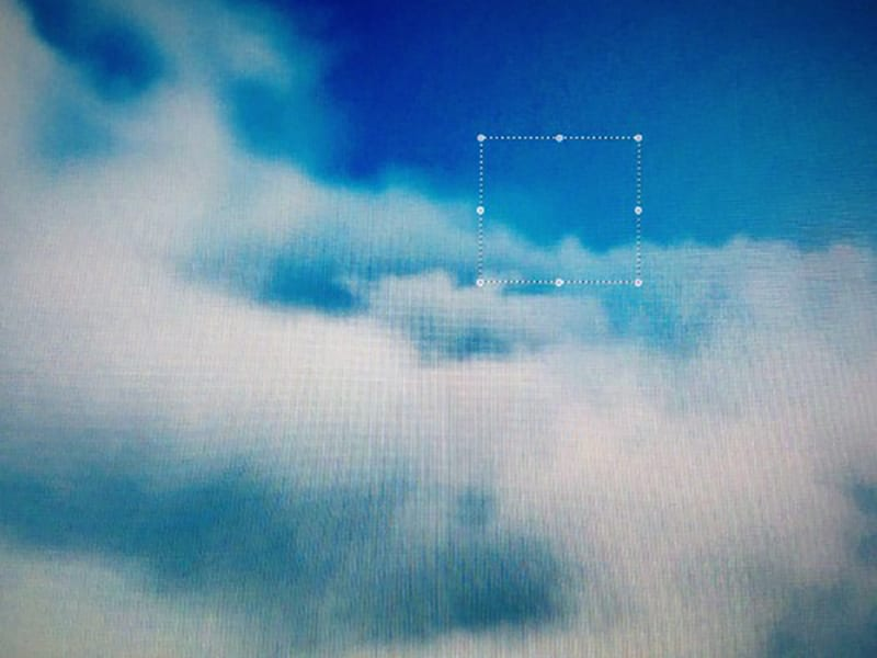 Web art of sky like image and text box in far left.