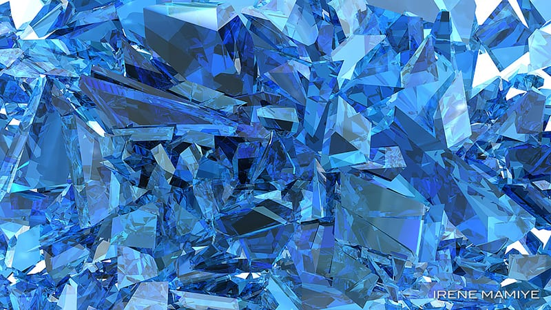 Detailed shot of blue crystals.