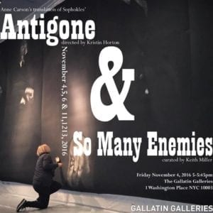 """Antigone & So Many Enemies"" Poster"
