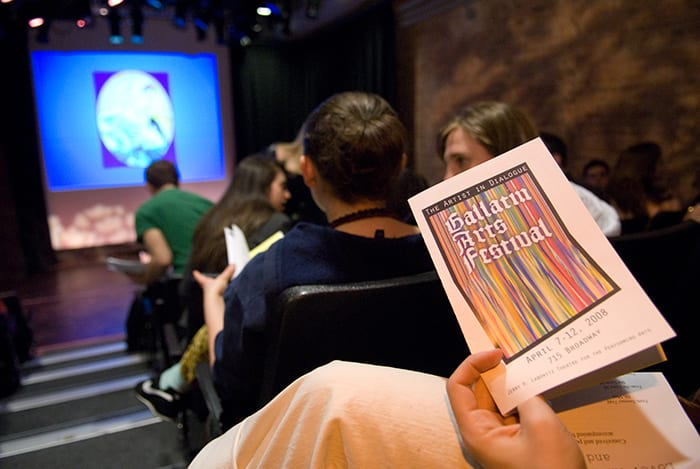 A photo of the program for Gallatin arts Festival