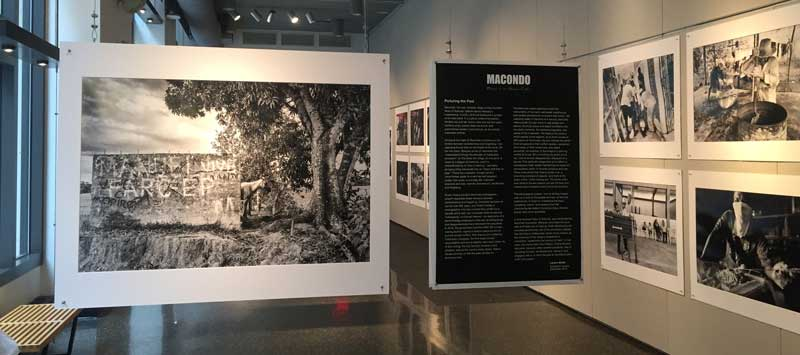 Gallery Space with photograph and mission statement