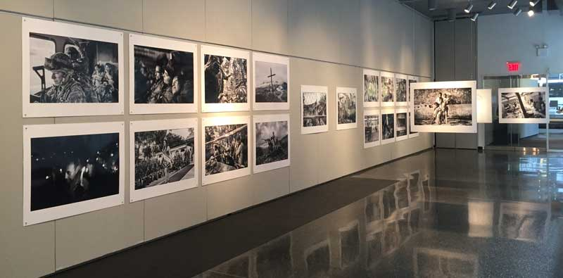 Gallery space with images from exhibition.