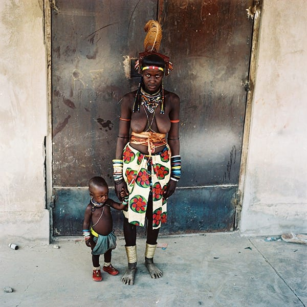 Woman and child in traditional clothing