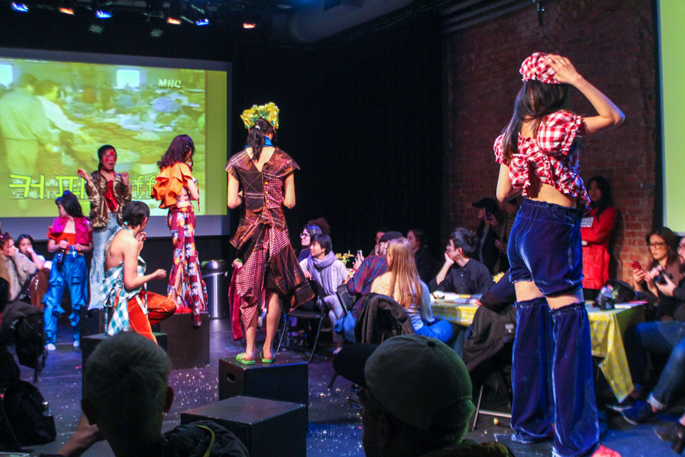 eclectic and colorful fashion show