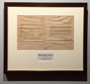 Albert Gallatin Letter