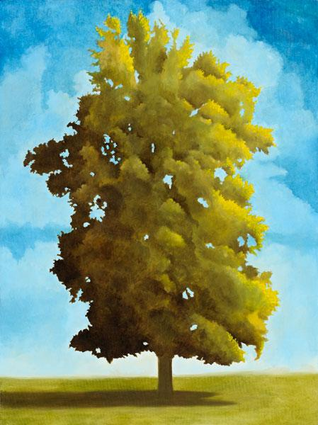 oil painting of a tree