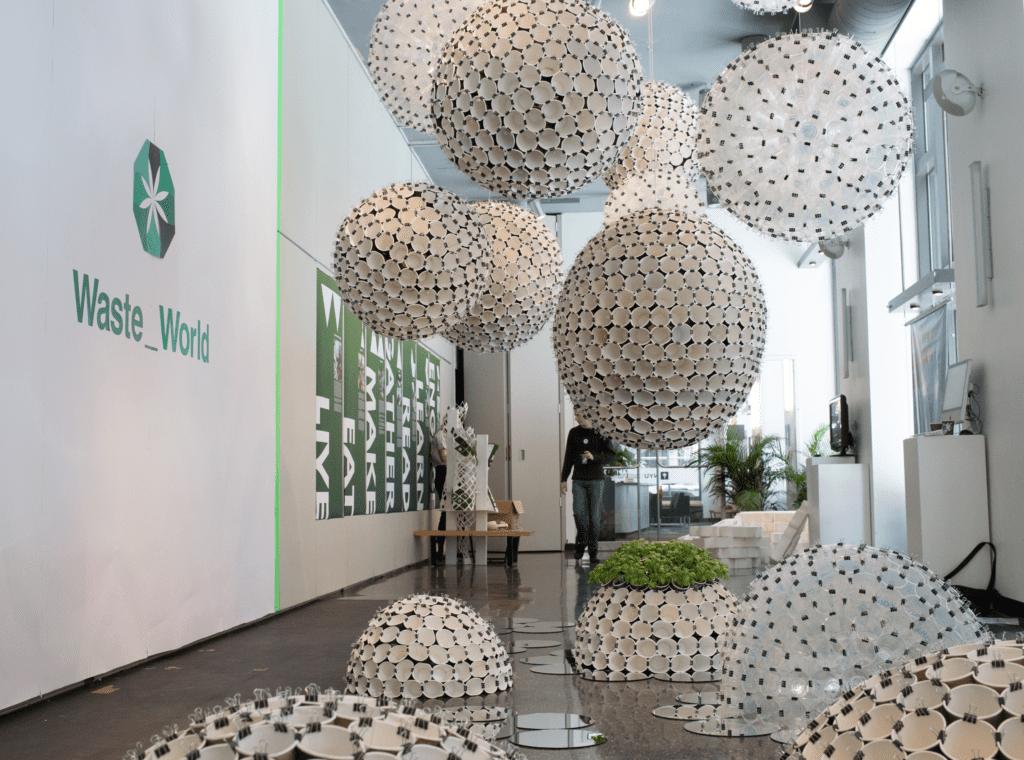paper cup sculptures