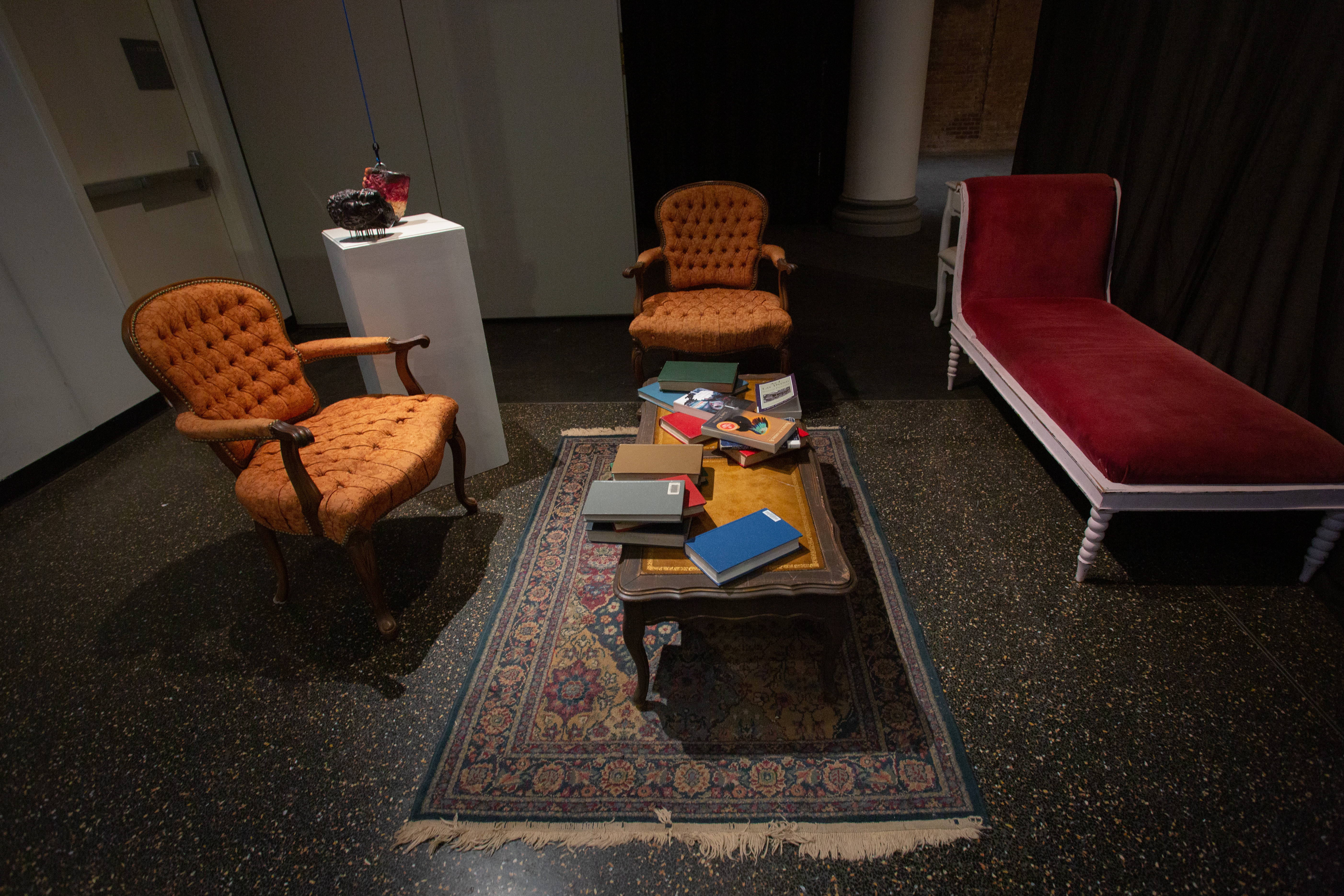 A gallery shot of a curated study space.