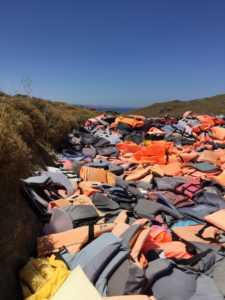 The graveyard of life vests.